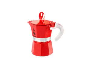 Bialetti 3 kupin Moka Express Glossy Red Ceramica espressokeitin