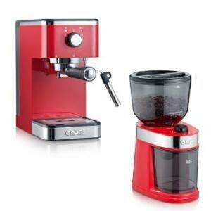Salita Set Espressokeitin ja Kahvimylly Punainen
